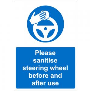 COV47 Please sanitise steering wheel